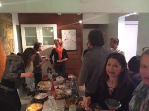 La soirée fut riche d'échanges et...gourmande!!!