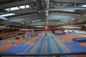 La superbe halle d'athlétisme qui a servi de décor à notre soirée