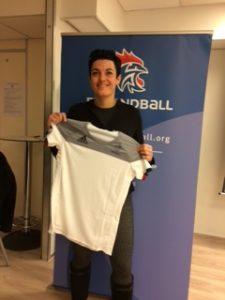 Charlotte Girard, arbitre internationale de Hockey sur Glace.