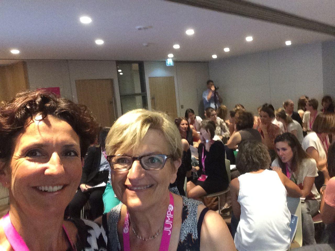 Véranne et Marie-Françoise  à l'initiative de ce workshop à succès